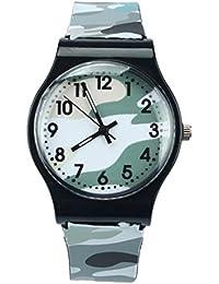 Sports Watch,Camouflage Children Watch Quartz Wristwatch...