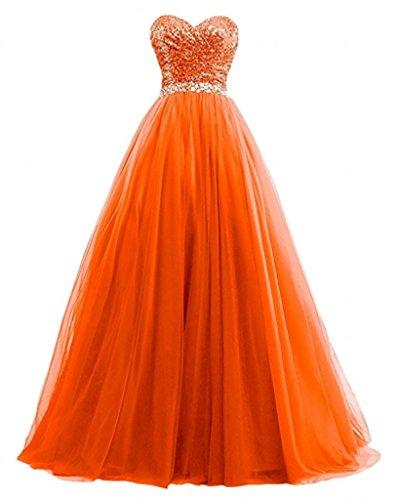 La Dunkel Marie Orange Tuerkis Glamour Rock Abendkleider Abiballkleider Promkleider Linie Braut Herzausschnitt A Lang xttwqr1