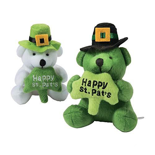 (St. Patrick's Day Stuffed Bears with a Shamrock (Set of 2))