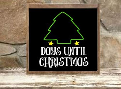 Days Till Christmas Chalkboard.Amazon Com Chalkboard Days Until Christmas Tree Countdown