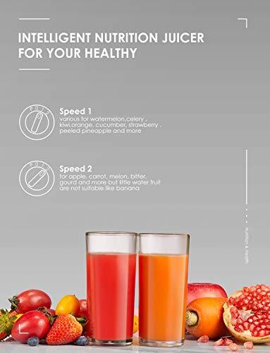 Centrifuga Frutta e Verdura Aicok Estrattore di Succo a Freddo con 65MM Bocca, Piedi Anti-scivolosi e Facile Pulizia… 4