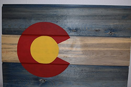 Colorado Flag Sign, Beetle Kill Dyed Colorado Flag Wall Hanging Review