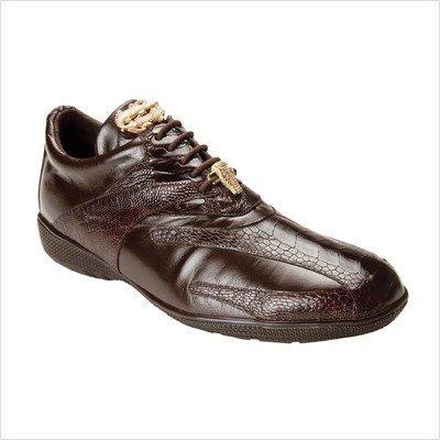 Belvedere Men's Bene Shoes,Navy Ostrich/Calf,9 M US by Belvedere