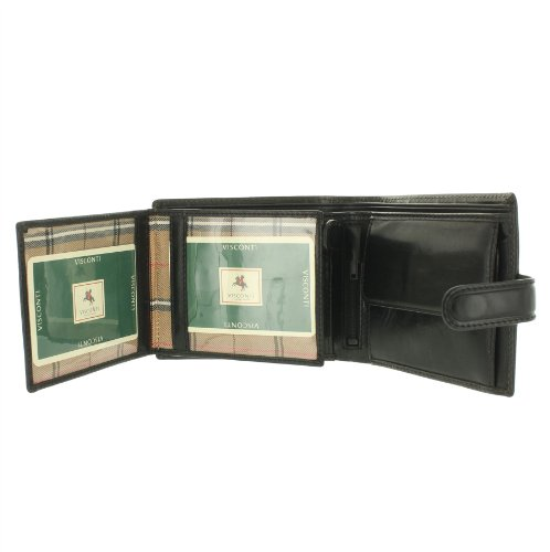 Gents ROME Vegetable Leather Brown Monza MZ5 Black Collection Visconti Tanned Wallet nxw4IR4q