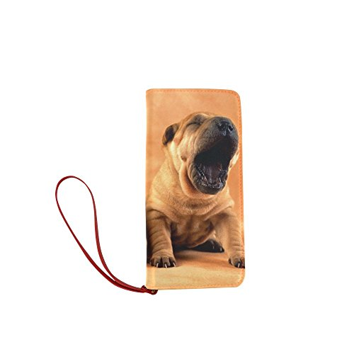 Women's Puppy Dog Pet Clutch Wallet Purse with Wrist Strap (Puppy Shampoo Gnc Pets)