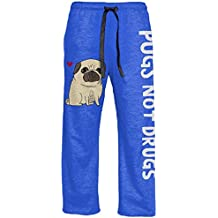 Gemma Correll Pugs Not Drugs Adult Heather Blue Lounge Pants