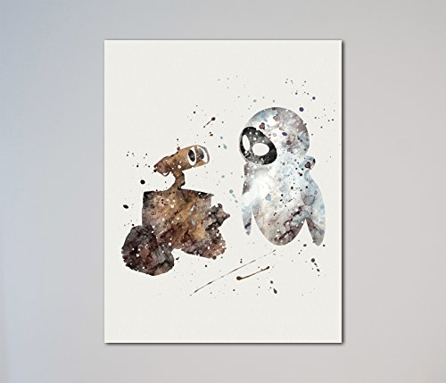 Wall-E and Eva 11 x 14 inches - E Poster Wall