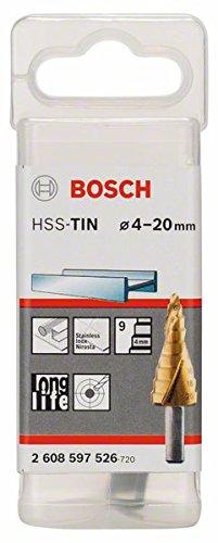 Bosch 2608597526 Hss-Tin Step Drill Bit 9 Parts 4-20mm