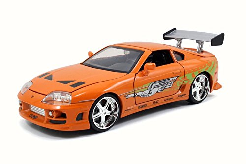 Fast and Furious 1/24 Jada Toyota Supra 1995 Orange Brian's Car (Fast And Furious Orange Supra For Sale)