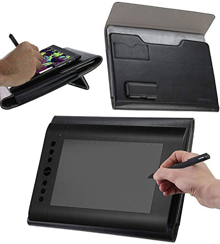 Broonel Luxury Leather Graphics Tablet Case with Built-in Ergonomic Stand Compatible with The XP-Pen G430S Graphics Tablet 4x3 inch