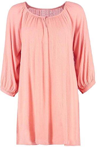 Donne Spiaggia Vestito Camicetta Rosa Lunga Coolred Colore Autunno Manica Puro vxq8wvUrg