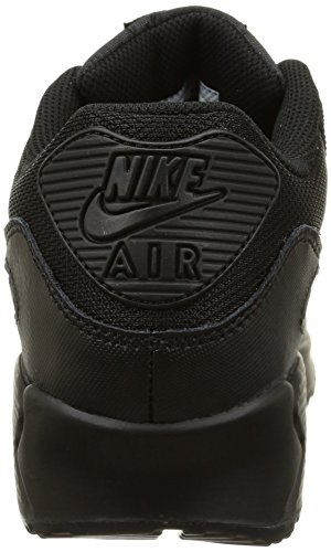 Nike Air Max 90 Mesh (GS) Zapatillas de running, Niños Negro / Gris (Black / Black-Cool Grey)