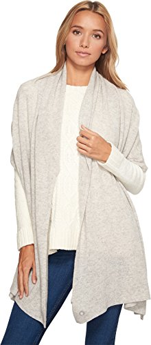 UGG Women's Luxe Oversized Wrap Light Grey Heather Scarf by UGG