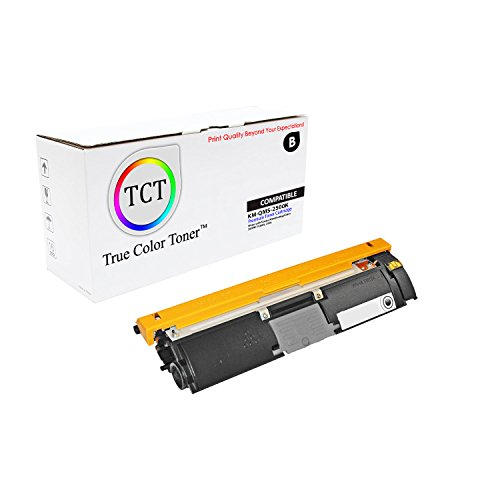 TCT Premium Compatible Toner Cartridge Replacement for QMS 2500 1710587-004 Black Works with Konica Minolta Magicolor 2500W 2530DL 2550 Printers (8,000 Pages)