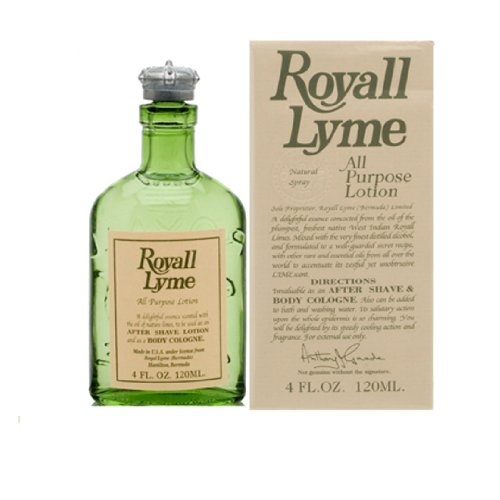 Royall Lyme Of Bermuda By Royall Fragrances For Men. All Purpose Lotion Spray 4.0 Oz