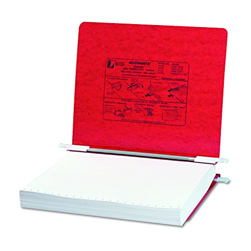 ACCO Pressboard Hanging Data Binder, 8.5 x 11 Inches Unburst Sheets, Executive Red (54129 ) (Binders Executive Red)