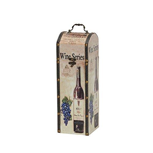 (Household Essentials 9206-1 Decorative Wine Caddy Gift Box Décor)