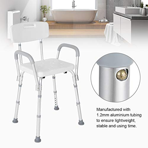 Shower Seat, Manufactured with High Polyethylene Material Adjustable Anti-Slip Detachable Bath Shower Stool for Pregnant Elderly Disabled Care by ZJchao (Image #8)