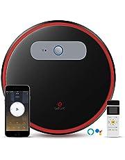 Aspirapolvere Robot con Wifi, Aspirapolvere e Sbarra Aspirapolvere Robot 2 in1, Controllo APP, Funziona con Alexa e Google, Aspirapolvere Automatici, Super Silenzioso-Lefant M501-B