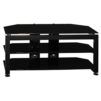 Bush Furniture Universal Small TV Stand, High Gloss Black