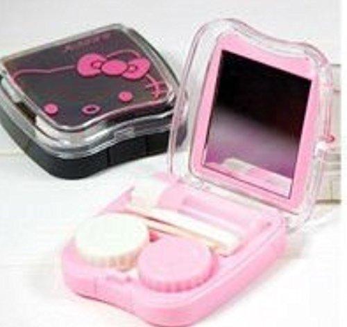 NOUVEAU Rose Bonjour Kitty Lentilles de contact très mignon Case Set 3Cshop