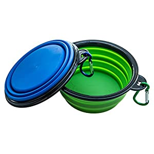 WootPet Collapsible Dog Bowl, BPA Free, Food Grade Silicone, Foldable Expandable for Dog/Cat Food Water Feeding, Portable Travel Bowl for Camping 28