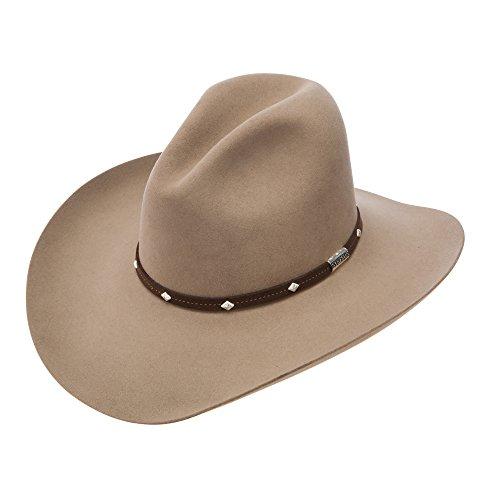 Stetson Men s 4X Silver Mine Buffalo Felt Cowboy Hat Stone 7 3 8 by Stetson 88e736a316dd