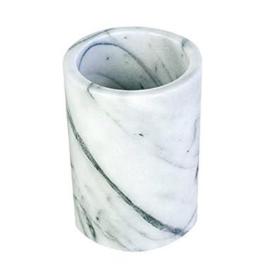 Marble Utensil Holder, White