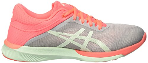 Rush Course Asics Fuzex Femme De Chaussures flash midgrey bay Coral Multicolore IfwFxqw5