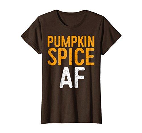 Womens Pumpkin Spice AF T-Shirt Medium Brown