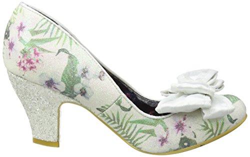 Irregular Choice Ban Joe - Tacones Mujer Blanco (White Floral)
