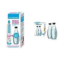 SodaStream Reservepack- 1 x CO2-Zylinder für 60L und 1 x 0,6L Glaskaraffe