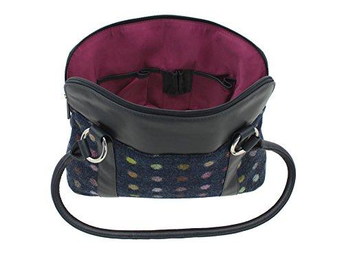 Negro 719 Azul Mala Negro Leather bolso Marino 40 qfIaaE