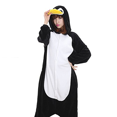 [Unisex Adult Halloween Penguin Costume, Attractive Animal Onesie Designs] (Animal Suits For Adults)