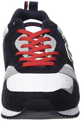 Tommy Hilfiger A2285Dan 8C - Zapatillas para hombre MIDNIGHT/WHITE/TANGO RED