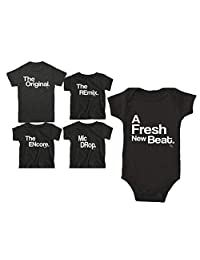 The Original, Remix, Encore, and Mic Drop| Mom Dad Baby Son Daughter Matching Family Shirt Sets