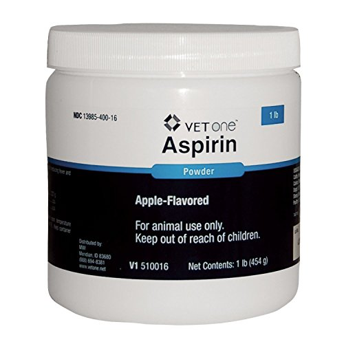Vet One Apple Flavored Extra Strength Aspirin Powder for Horses Cattle Dogs & Livestock - Palatable - Aid in Reducing Fever & Mild Analgesia - 1 lb ()