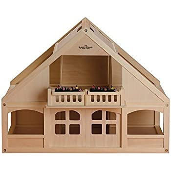 Small World Toys Ryanu0027s Room Classic Wooden Dollhouse With 6 Rooms And  Balcony