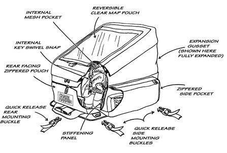 Chase Harper 1560M Black Magnetic Sport Tour Tank Bag - 35.3 Liters by Chase Harper (Image #8)