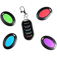 Aoonar Wireless RF Item Locator Key Finder for Remote Control Pet Cell Wireless RF Remote Item Wallet Locator-1 Transmitter and 4 Key Finder