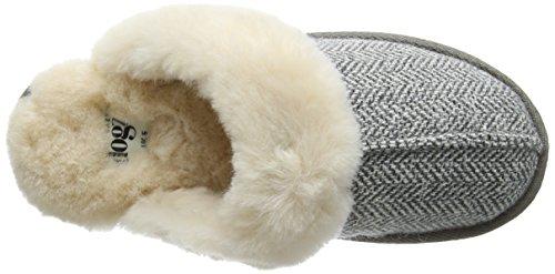 Lazy Dogz Gracie, Zapatillas de Estar por Casa para Mujer Grey (Herringbone)