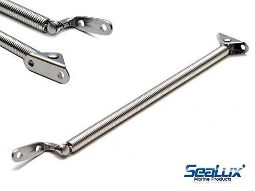 SeaLux Marine 8-1/4 x 7/16 HATCH SUPPORT SPRING Holder Stainless steel includes fork U-bolt and L shape plate (Small) Lid, Door, Cover, Cabinet, Window