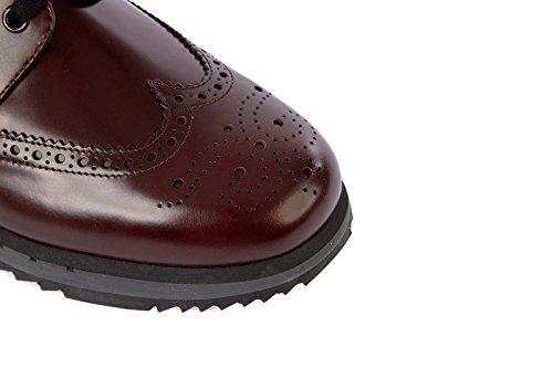 Prada Herenschoenen Lederen Mannen Zakelijke Schoenen Lace Derby Bruin