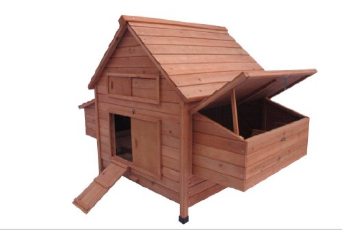 Ardinbir 62'' Deluxe Huge Solid Wood Chicken Coop / Hen House Duck Poultry Rabbit Hutch Cage with 6 Nesting boxes by Ardinbir (Image #1)