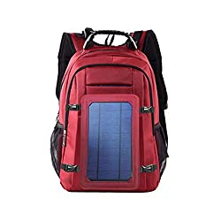 Solar Power Backpack Waterproof Anti-Theft Fast Charging Camping & Hiking Daypack with Highest Solar Panel Charger for Smart Cell Phones and Tablets, GPS, Powerbank, Bluetooth Speakers