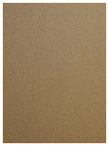 8.5 X 11 Inches Heavy Weight Letter Size .046 Caliper Thick Cardboard Craft Packaging Brown Kraft Paper Board Point 50 Sheets Chipboard 46pt