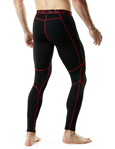 TSLA Men's (Pack of 1, 2) Thermal Wintergear Compression Baselayer Pants Leggings Tights