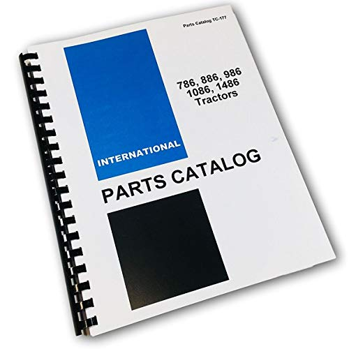 International Ih 786 886 986 1086 1486 Tractors Parts Manual Catalog
