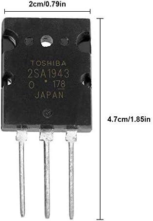 5ペア2SA1943 2SC5200高出力整合オーディオトランジスタ、黒