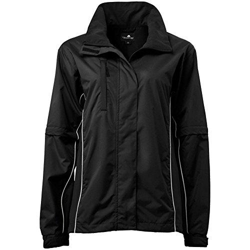 The Weather Company Ladies Microfiber Rain Jacket Black/White L